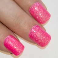 bling art false nails french manicure pink fuschia gel glitter medium 24 tips uk - 25% Off On Prepayment Sum of The Order
